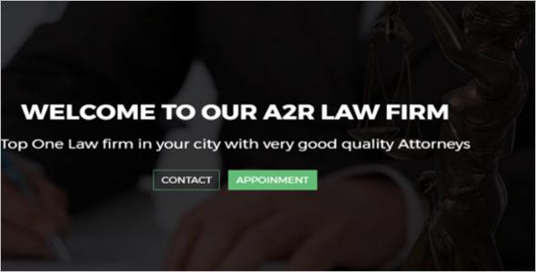 Attorney Agency Responsive Web Slider Template