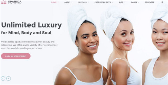 Awesome Beauty Responsive Website Theme