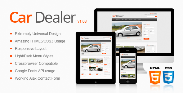 Awesome Car Dealer HTML5 Theme