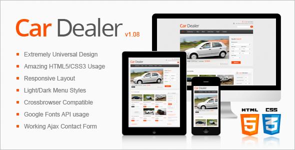 Awesome Car Dealer HTML5 Theme