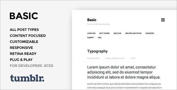 Basic Photography Tumblr Theme