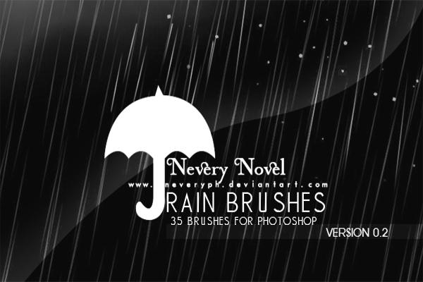 Beautiful Rain Drop Brushing Make Up