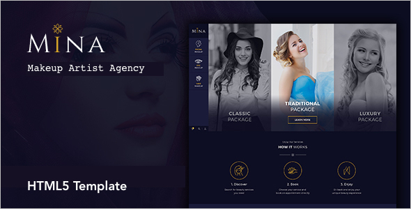 Beauty Salon Makeup HTML5 Template