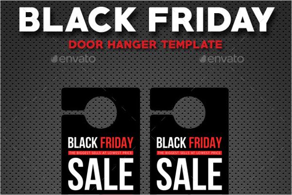 Black Friday Door Hanger Template