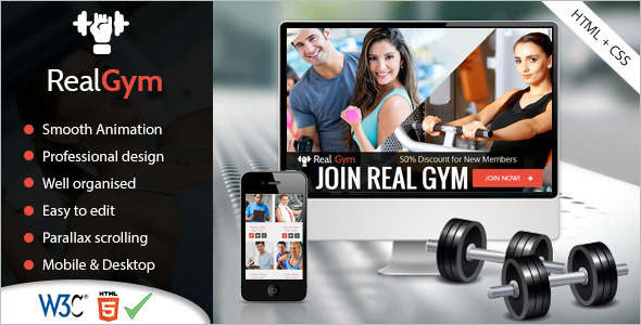 Body Fitness Website Template