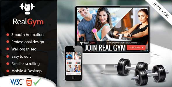 Body Fitness Website Template