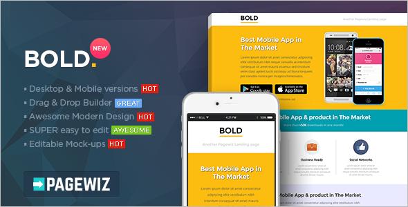 Bold Pagewiz LandingPage Template