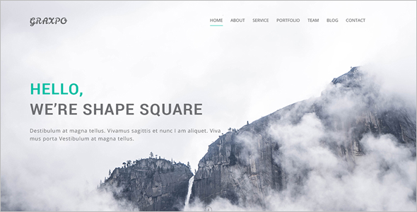 Bootstrap Agency Portifilio Template