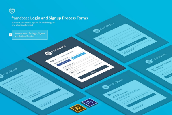Bootstrap Login Template Design