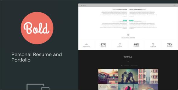 Bootstrap Portfolio Design Template