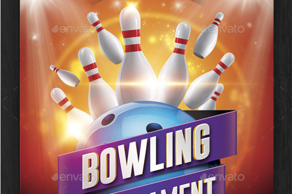 Bowling Pins Tournament Flyer