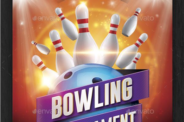 Bowling Pins Tournament Flyer