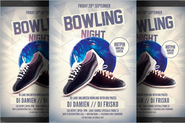 Bowling Tournament Club Flyer