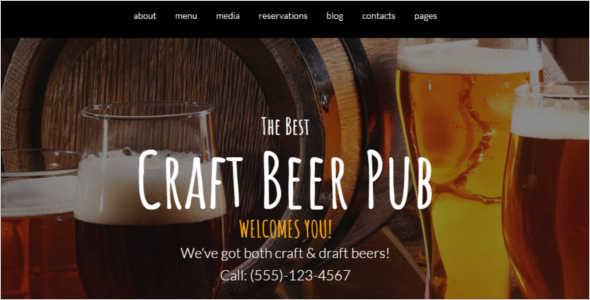 Brewery E-Commerce WordPress Theme