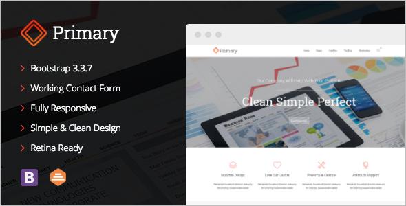 Business Bootsrap Website Tremplate