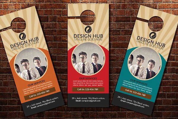 Business Door Hanger Template