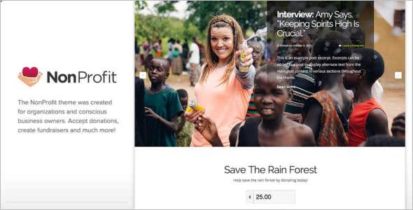 Business Fundraising WordPress Theme