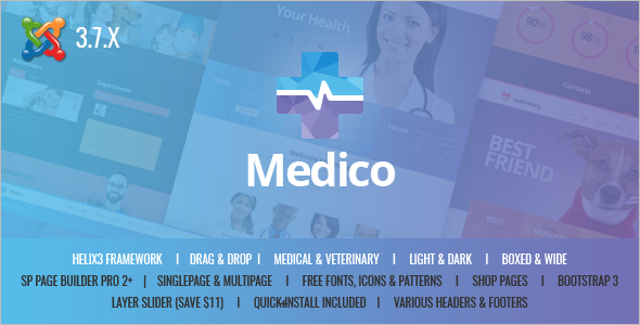 Business Veterinary Joomla Theme