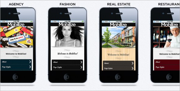 Business jQuery Mobile Template