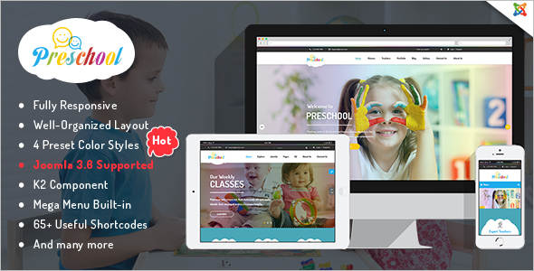 Business kindergarten Joomla Template