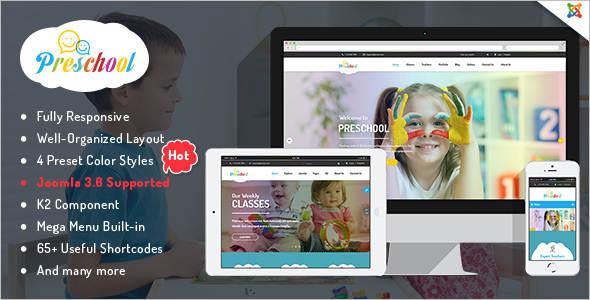 Business kindergarten Joomla Template