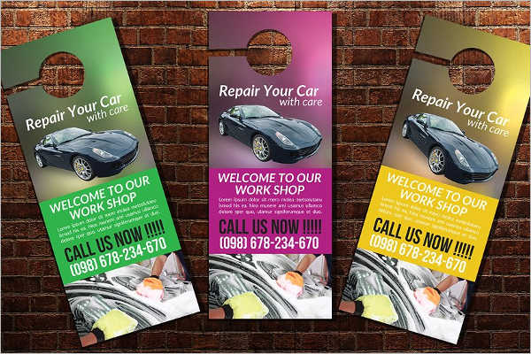 Car Wash Door Hanger Template