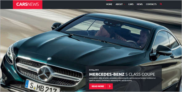 Cars News Joomla Template