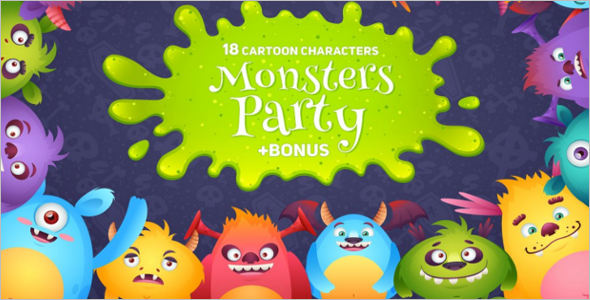 Cartoon Monsters Game design Theme