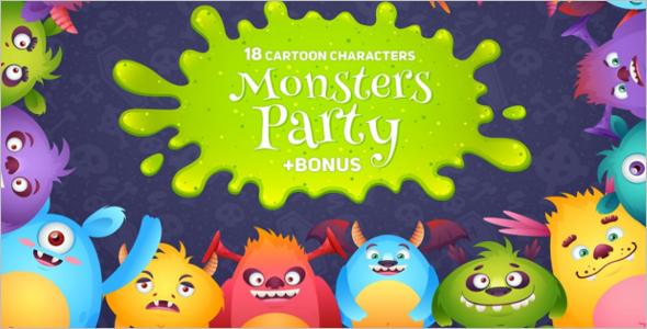 Cartoon Monsters Game design Theme