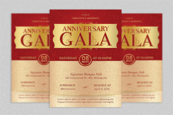 Classical Anniversary Flyer Design