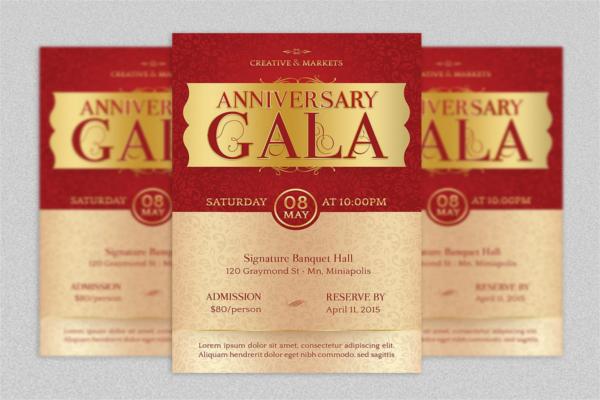 Classical Anniversary Flyer Design