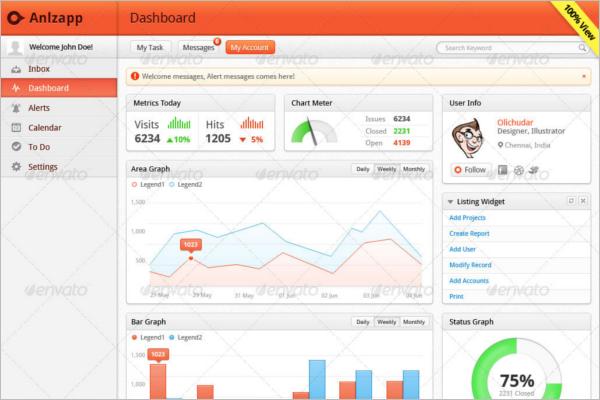 Clean Dashboard UI Kit Template