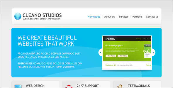 Clean Studio Website Template