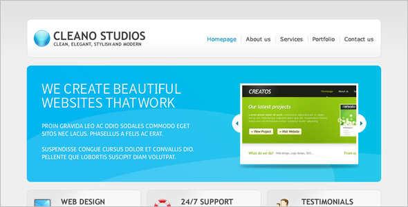 Clean Studio Website Template
