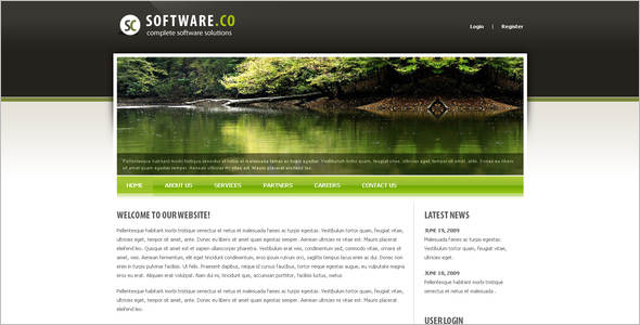 Clean software Drupal Template