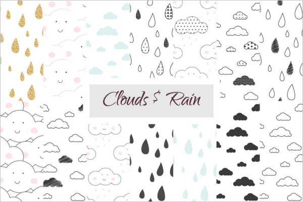Cloud and Rain Scrabbook Design