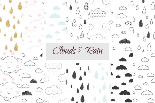 Cloud and Rain Scrabbook Design