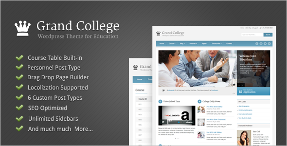 College Education Blog Template