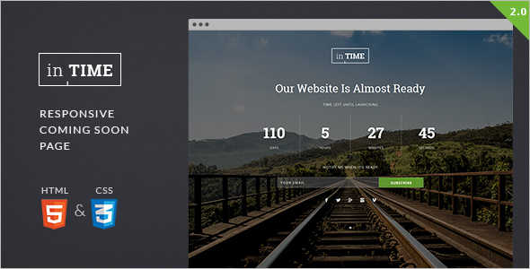 Coming Soon Under Construction Web Template
