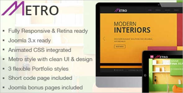 Company Metro Style Mobile Template