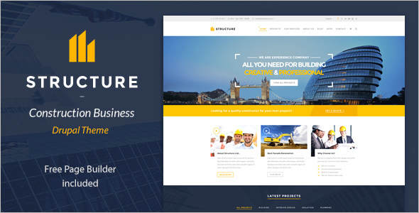Construction Drupal Template