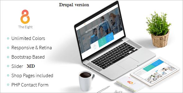 Corporate Flat Design Drupal Template