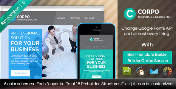 Corporate Responsive Email Magazine Template