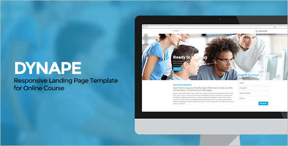 Corporate Signup landing Page Template