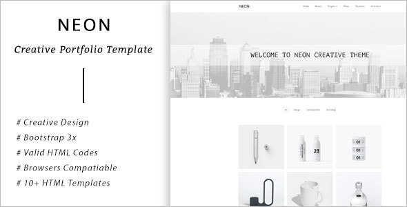Creative Bootstrap Portfilio Template