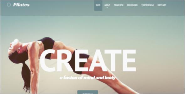 Creative Fitness Website Template
