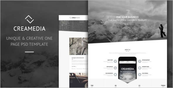 Creative Flat Design Drupal Template