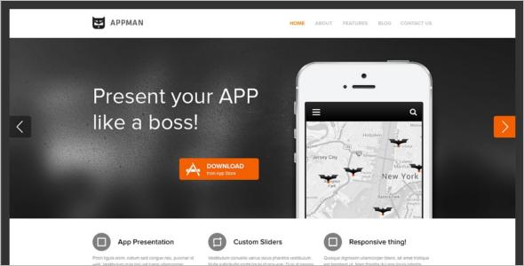 Creative Mobile WordPress Template