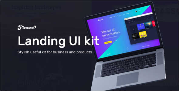 Creative signup landing Page Template