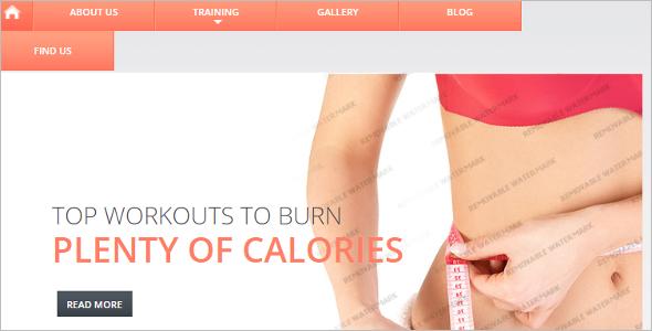Customize Fitness Website Template